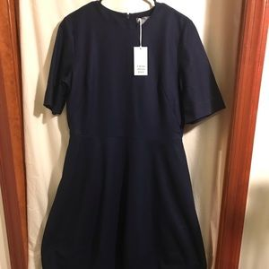 COS Dresses - COS navy cocoon wool dress size 12